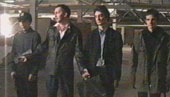 Lopez and his gang of desperado's (left to right Nick Murray; Paul Burgess; Dan Hopkins and Jonathan Brett)